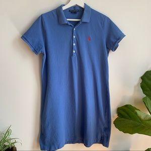 Ralph Lauren Sport Blue Dress Polo Logo Cotton XL